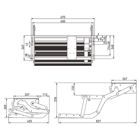 Pisadera eléctrica plegable 12V dos peldaños