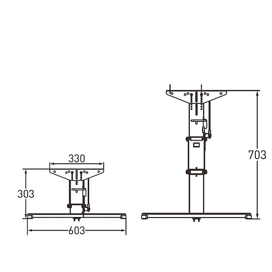 Soporte de mesa 70cm regulable en altura