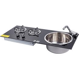 Combo Cocina/Lavaplato encimera para casa rodante camper y motorhome