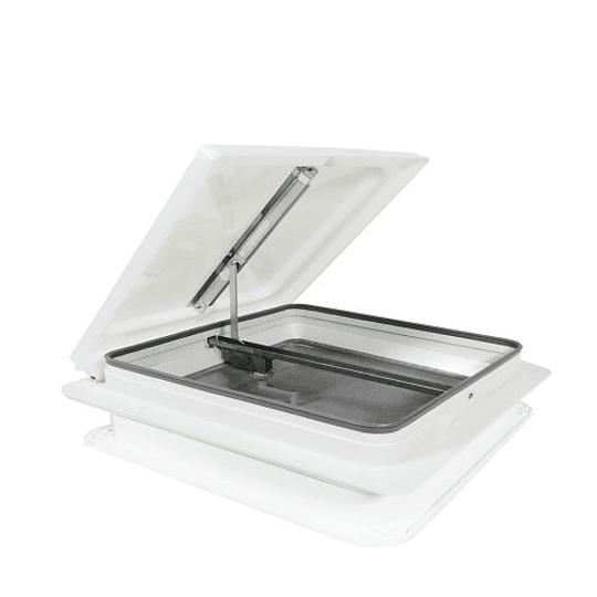 Claraboya 360x360cm con malla mosquitera tapa color blanca