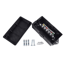 Caja grande de conexión 7 polos para luces de carro, casa rodante, minicamper