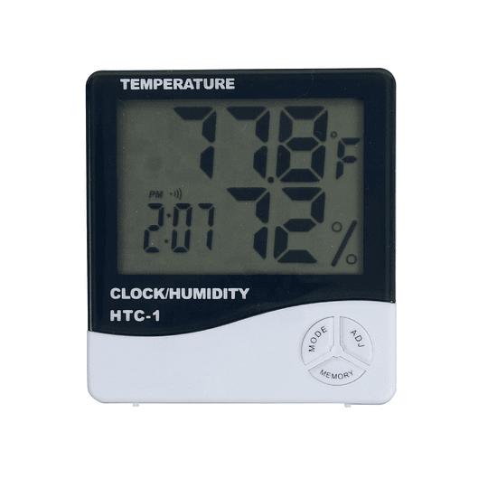 Indicador digital de temperatura, humedad y horario