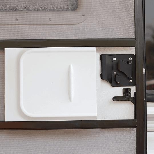 Tapa cubre cerradura deslizable para puerta interior