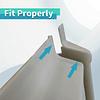 Tapa cubre cerradura deslizable para puerta interior con mosquitero