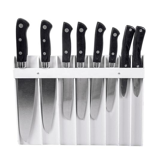 Portacuchillos blanco para 8 cuchillos