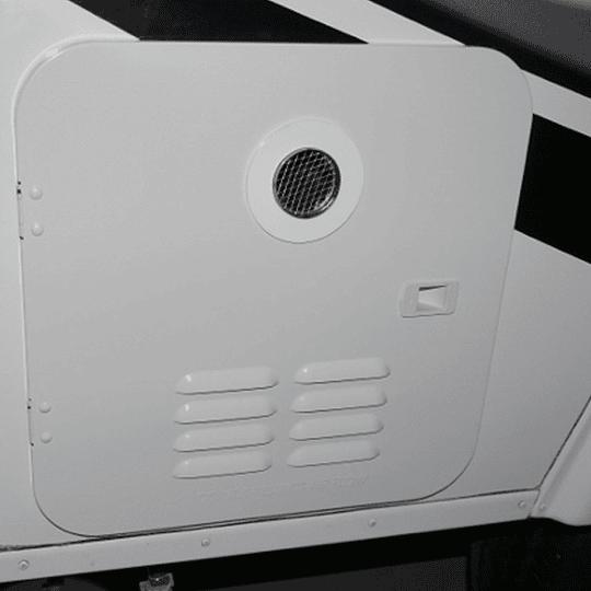 Puerta blanca exterior para calentador de agua Girard