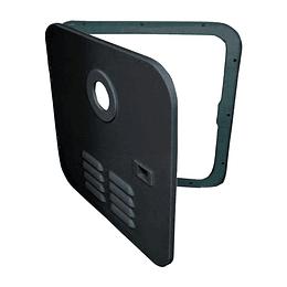 Puerta negra exterior para calentador de agua Girard