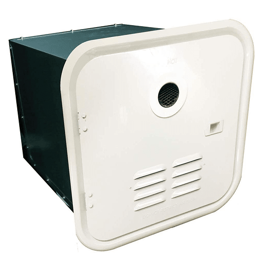 Marco blanco para puerta exterior calentador de agua Girard