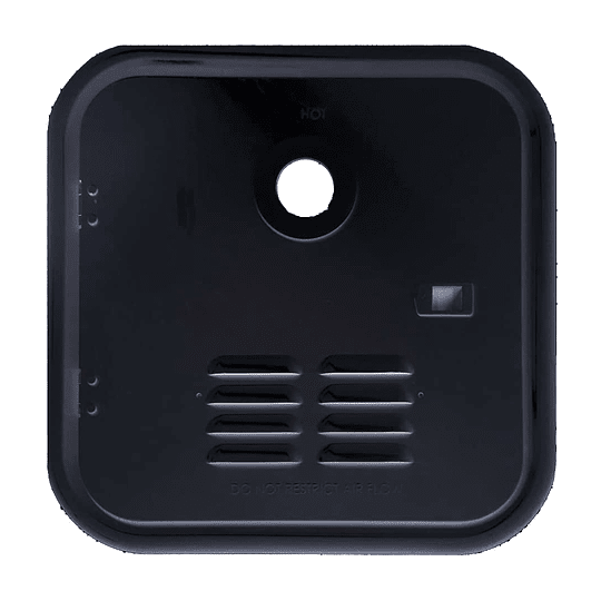 Marco negro para puerta exterior calentador de agua Girard