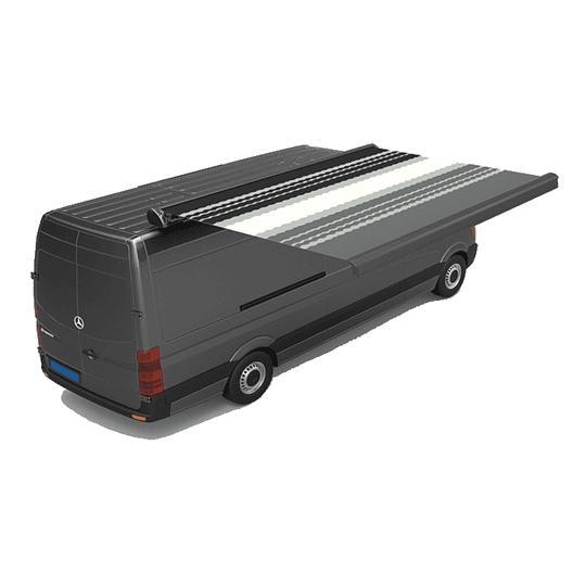 Toldo sobre techo cassette 3.50x2.50 mts negro