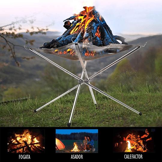 Brasero portátil para camping y aire libre