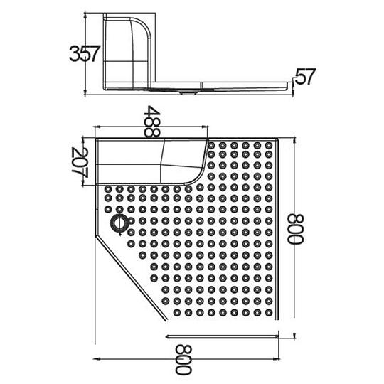 Receptáculo para ducha con cubrerueda