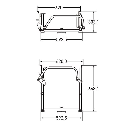Soporte de mesa 60cm regulable en altura