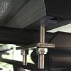 Perno con pletina deslizable para carpa de techo