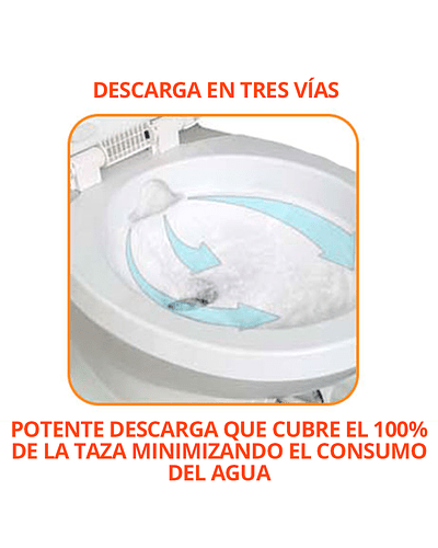 Baño químico Cassette con estanque retraíble y base giratoria