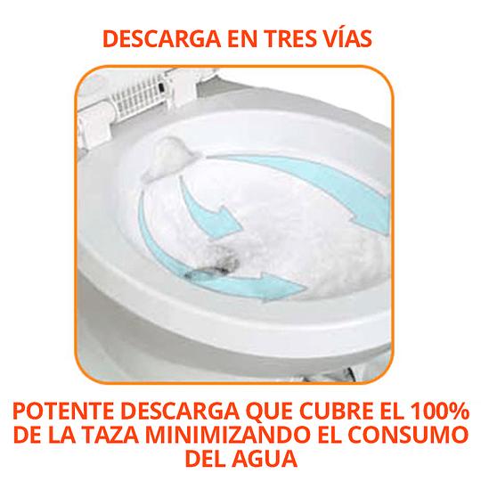 Baño Cassette con estanque retraíble y base giratoria