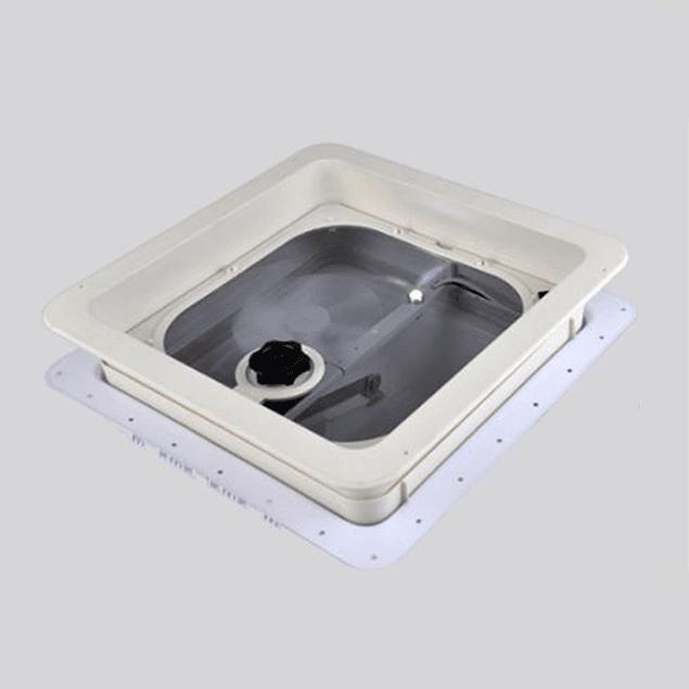 Escotilla/Claraboya con extractor y luz led interior 360x360 mm