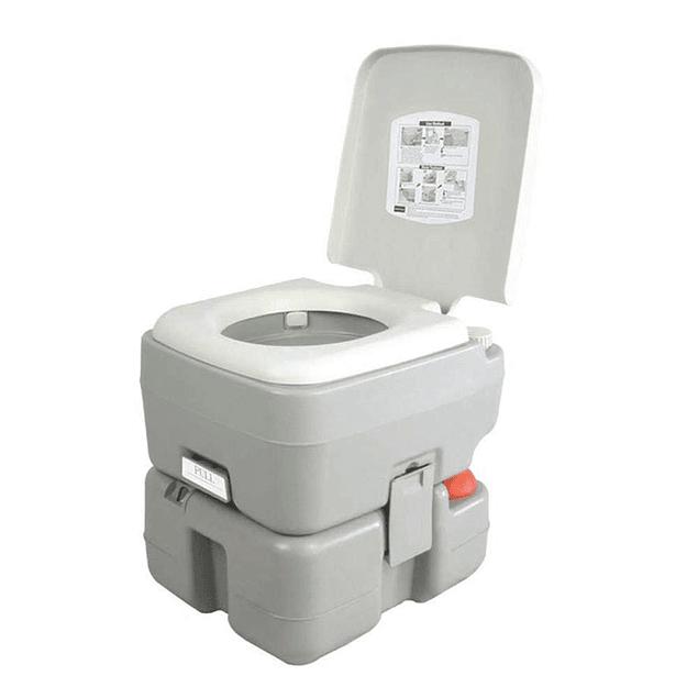 Baño químico portátil 20 litros (descarga triple y caño) VC-BQ-1320T