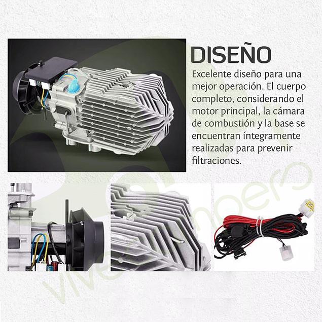 Calefactor Diesel 12V 5KW con kit de instalación