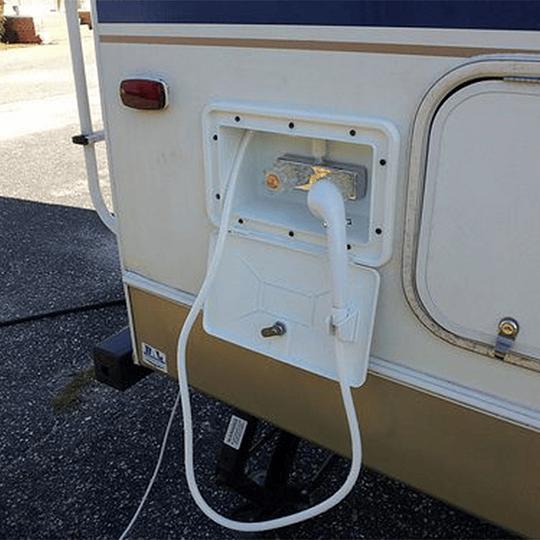 Ducha exterior blanca para casa rodante, carro offroad, motorhome