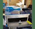 Cocina y lavaplatos proyectable con rieles telescópicos para trailer, casa rodante, carro offroad