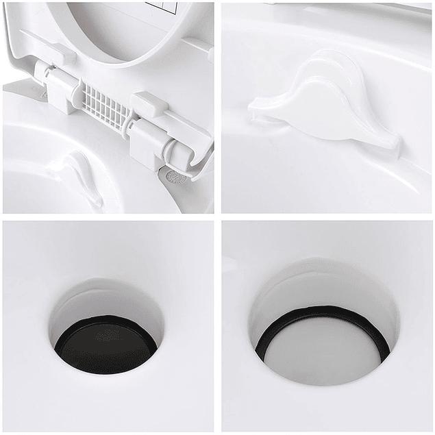 Baño químico con base de acero inox para casa rodante, camper y motorhome descarga por gravedad