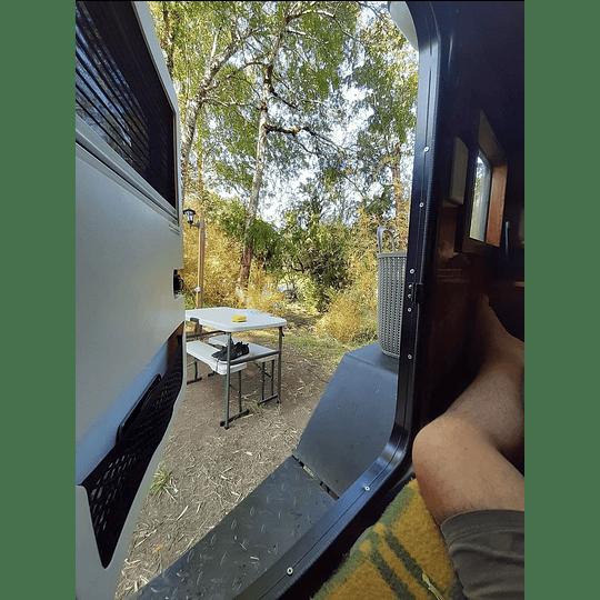 Puerta para minicamper, teardrop, trailer, carro de arrastre