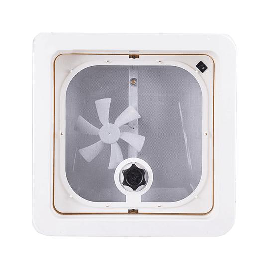 Claraboya con extractor y luz led interior 360x360 mm