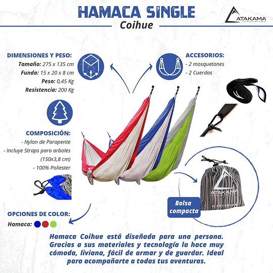 Hamaca Single Coihue Verde