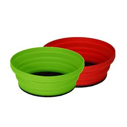 Set 2  Bowl Atakama Outdoor Lucuma Rojo/Verde