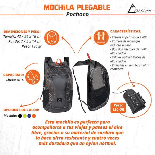 Mochila Plegable Atakama Outdoor Pochoco 16 LT Negro
