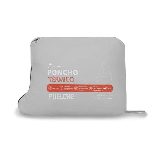 Poncho Termico Puelche Gris/Rojo
