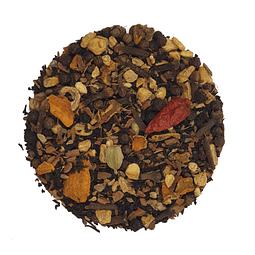 Jengibre y cúrcuma Chai, con té negro