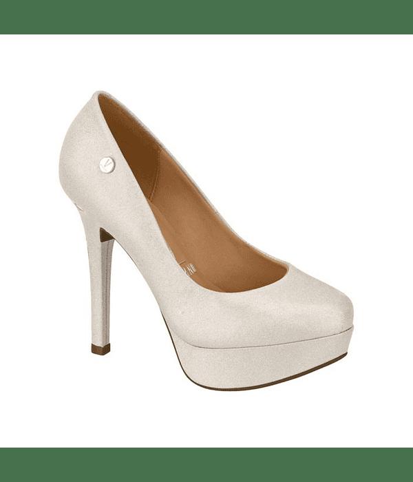Zapato Vizzano Plata Holográfico Glitter