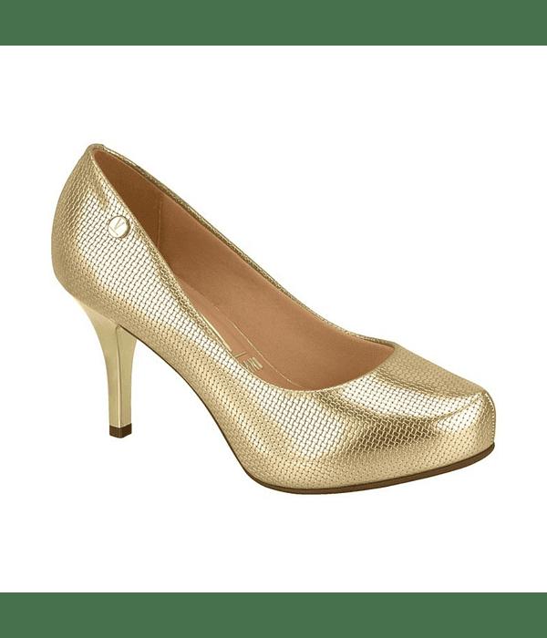 Zapato Vizzano Dorado Metalizado Trama