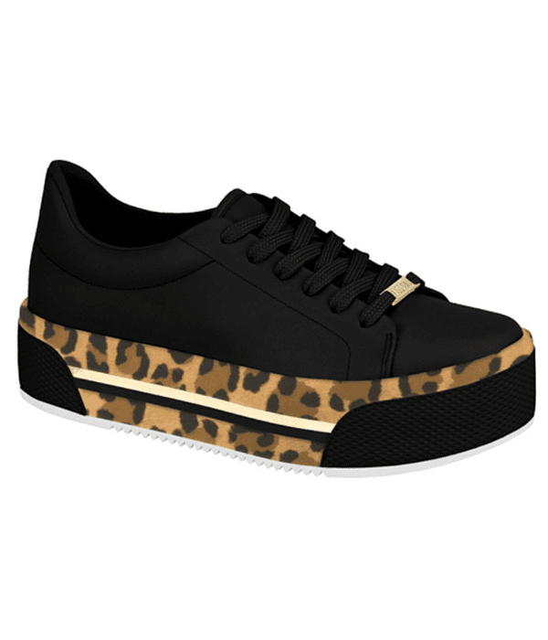 Zapatilla Vizzano Negra Animal Print