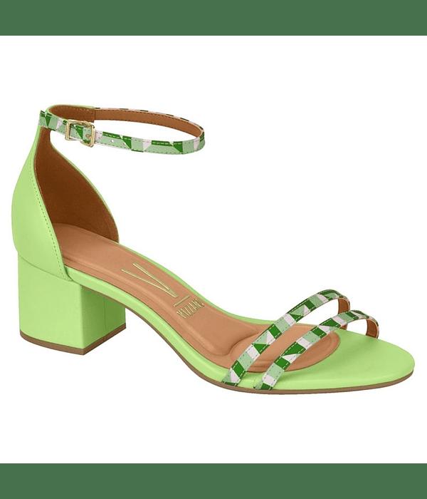 Sandalia Vizzano Verde Pistacho Cetim