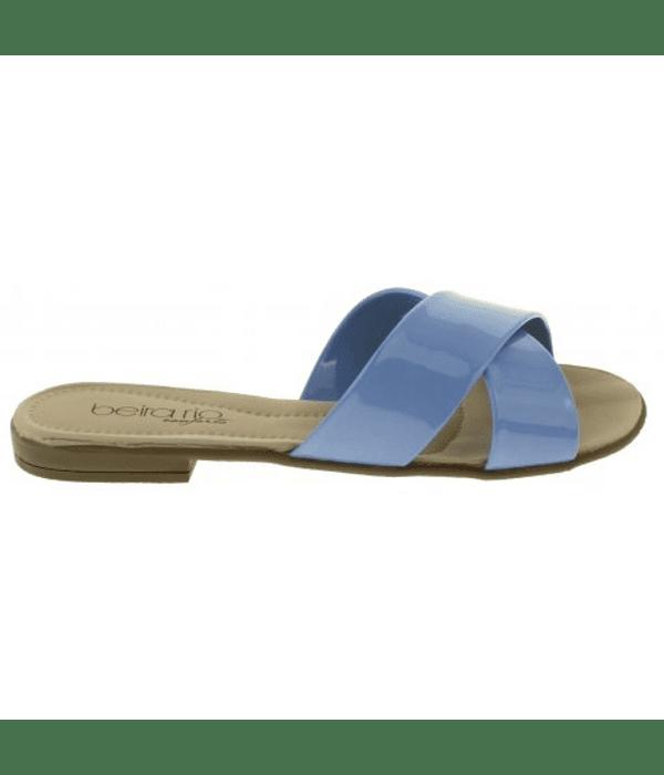 Sandalia Beira Rio Celeste Jeans Verniz Premium 8350.103