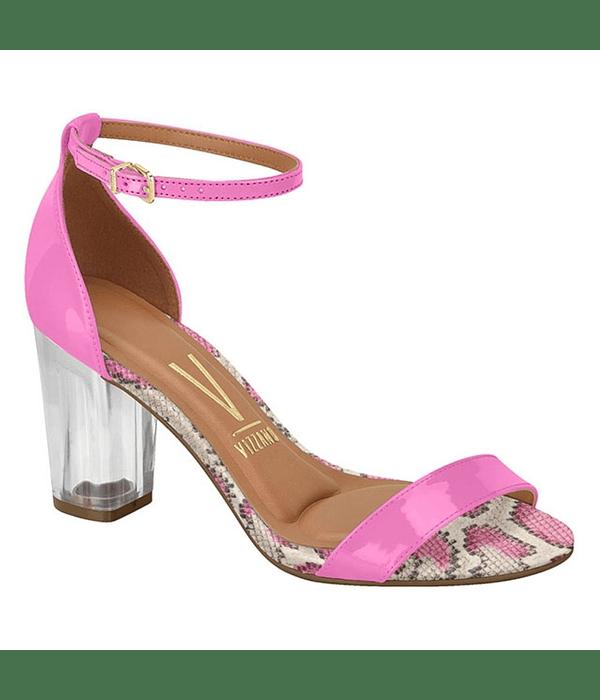 Sandalia Vizzano Pink Cetim Cobra