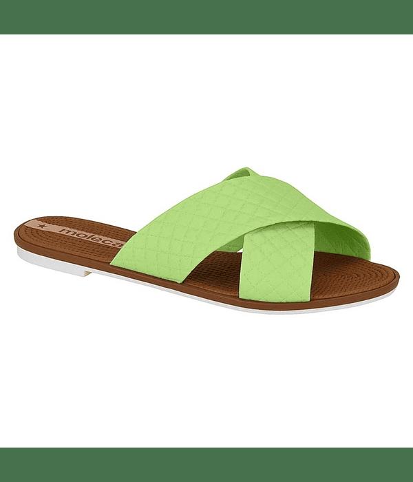 Sandalia Moleca Verde Pistacho Napa Nature