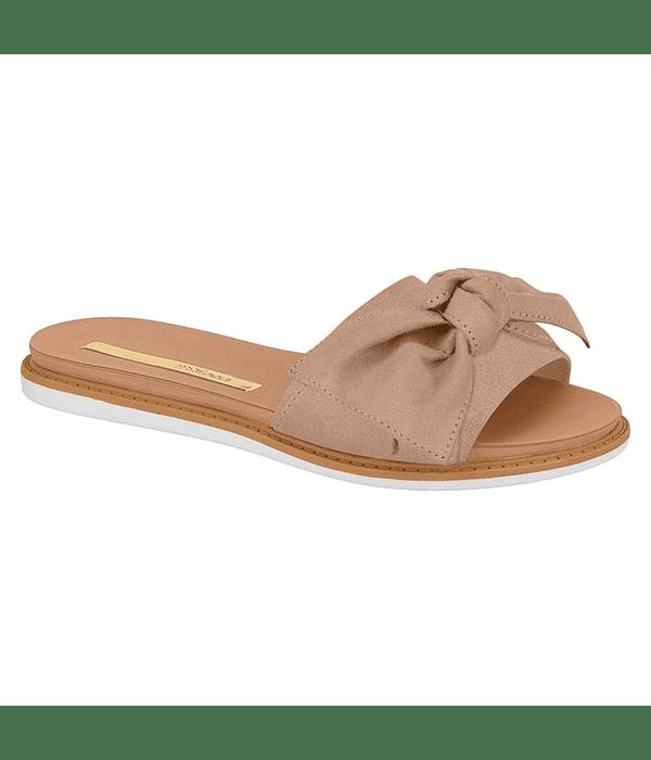Sandalia Moleca Nude Camurca Flex 5443-105