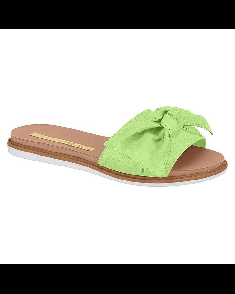 Sandalia Moleca Verde Pistacho Camurca Flex 5443-105