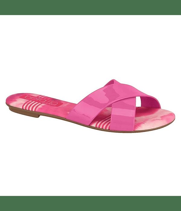 Sandalia Beira Rio Pink Tie Dye Verniz Premium 8237-284