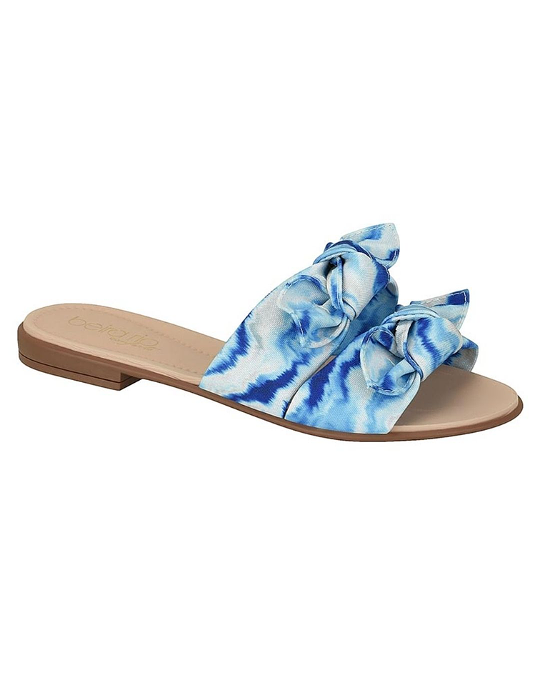Sandalia Beira Rio Azul Tie Dye 8350-129