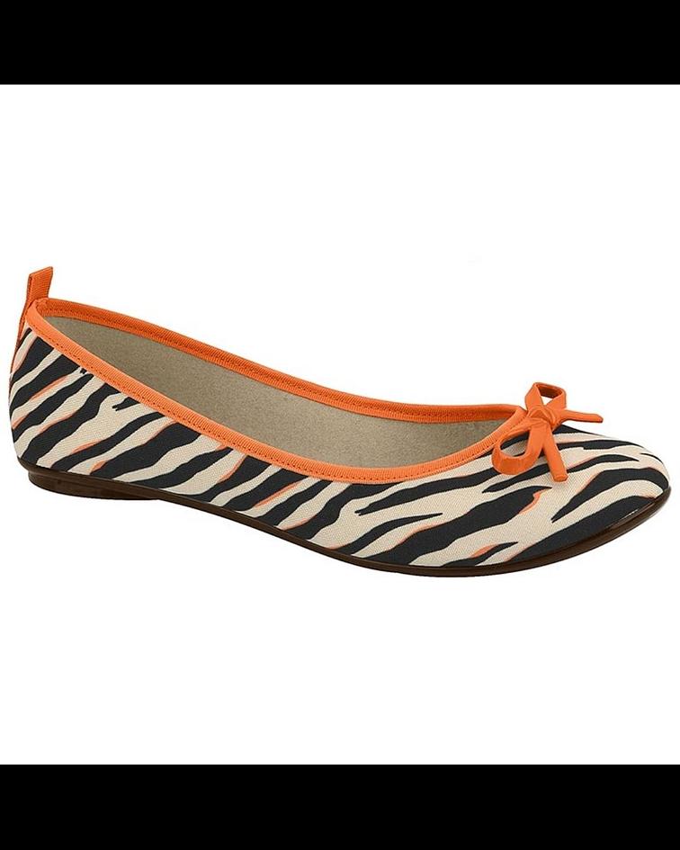 Ballerina Moleca Zebra Multi Naranjo 5314-506