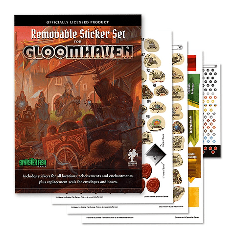 Gloomhaven: Stickers Removible- Juego de Mesa