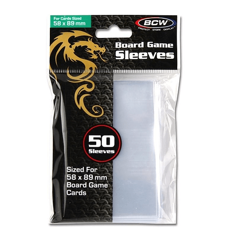 Board Game Sleeves - Protectores 58x89 mm