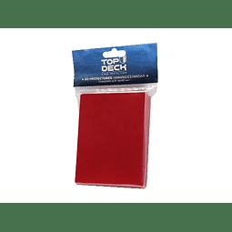 Protector cartas tamaño Standar Top Deck 62x89 - Rojo
