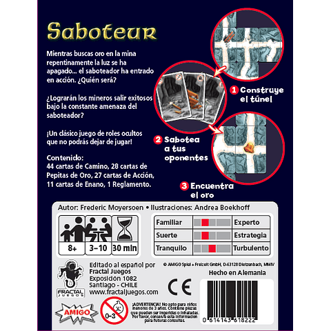 Saboteur - Juego de Mesa - Español