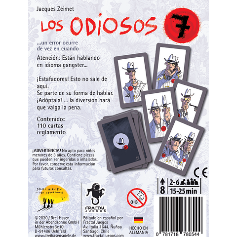 Los Odiosos 7 - Juego de Mesa - (Español)
